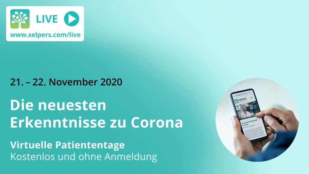 Virtuelle Patiententage am 21. und 22. November 2020